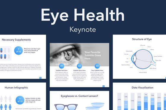 Medical Diagrams and Charts: Eye Health Keynote Template #04917