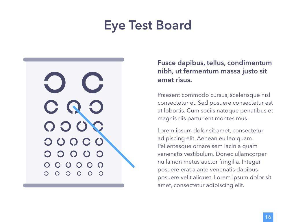 Eye Health Keynote Template, Slide 17, 04917, Medical Diagrams and Charts — PoweredTemplate.com