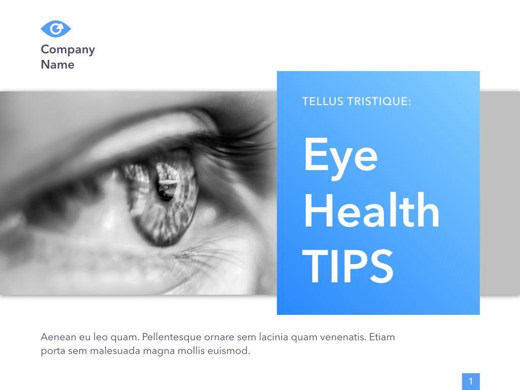 Eye Health Keynote Template, Slide 2, 04917, Medical Diagrams and Charts — PoweredTemplate.com