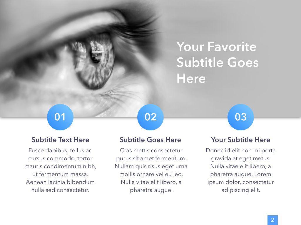 Eye Health Keynote Template, Slide 3, 04917, Medical Diagrams and Charts — PoweredTemplate.com