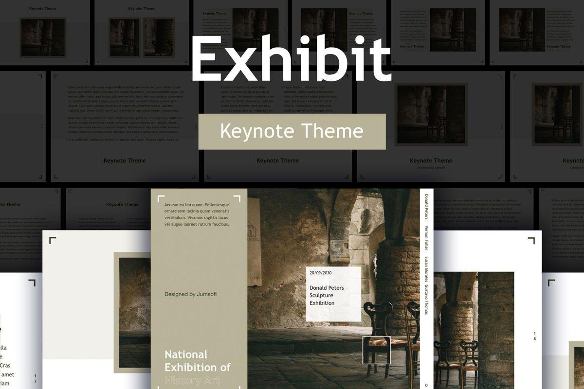 Exhibit Keynote Template, 04918, Presentation Templates — PoweredTemplate.com