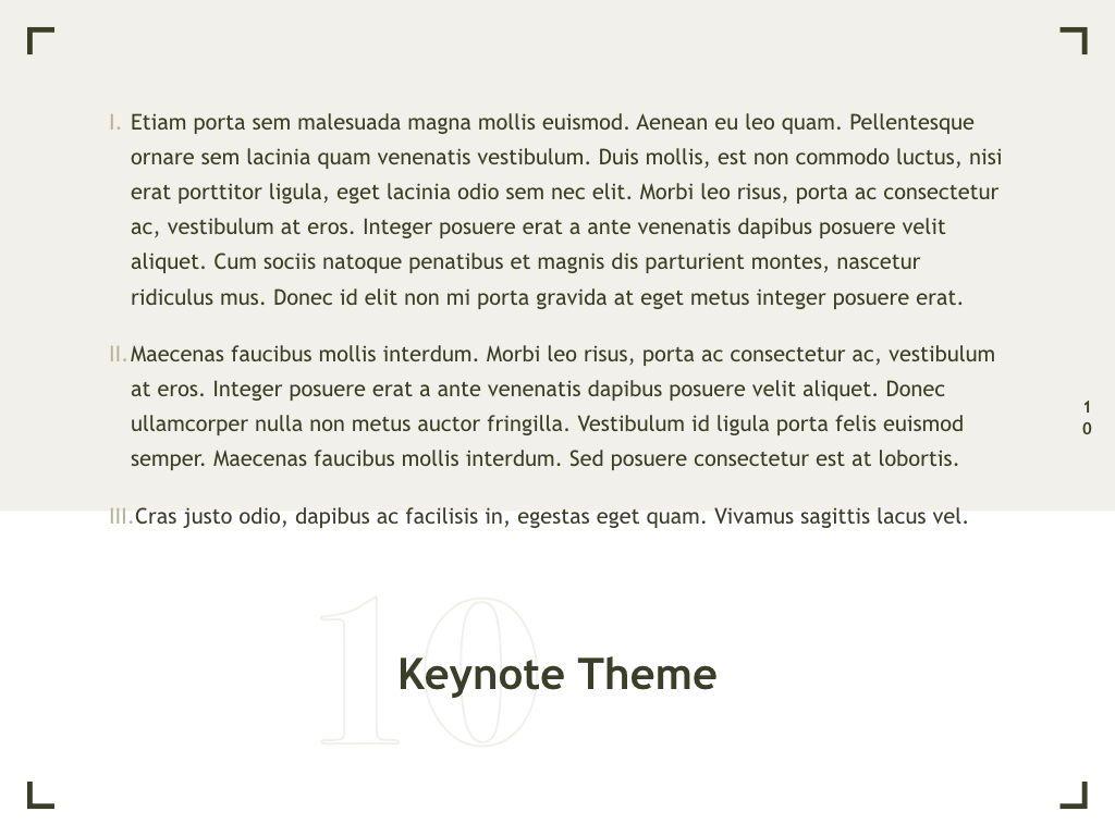 Exhibit Keynote Template, Slide 11, 04918, Presentation Templates — PoweredTemplate.com