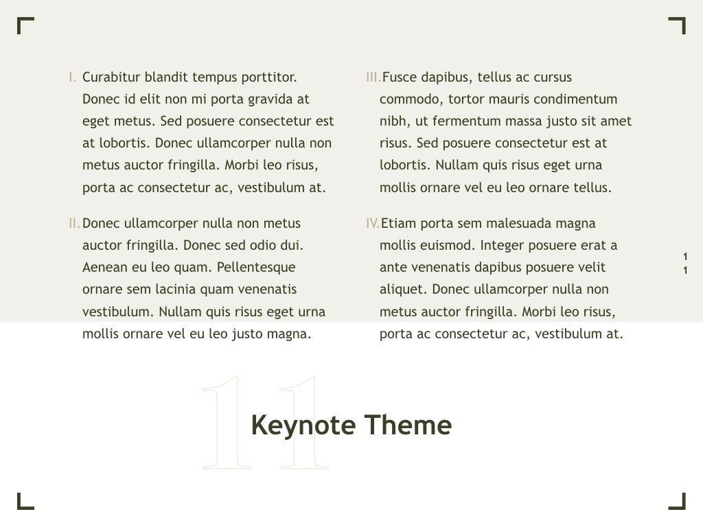 Exhibit Keynote Template, Slide 12, 04918, Presentation Templates — PoweredTemplate.com