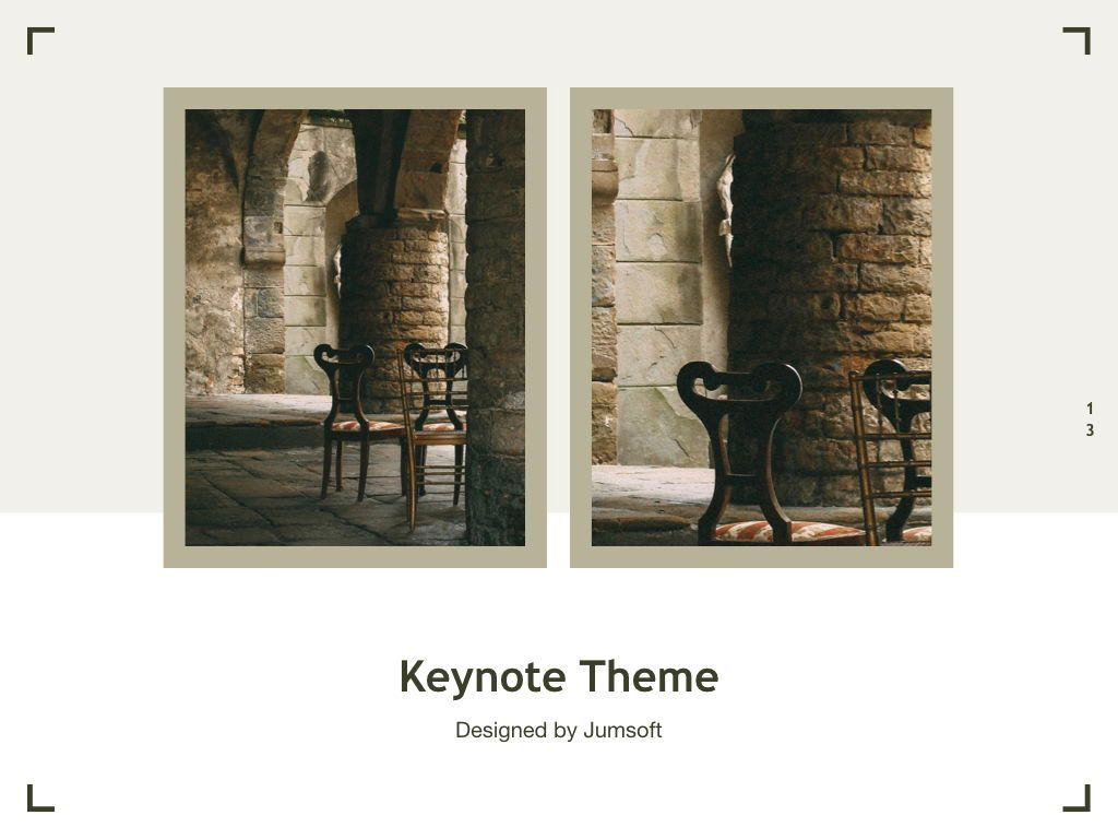 Exhibit Keynote Template, Slide 14, 04918, Presentation Templates — PoweredTemplate.com