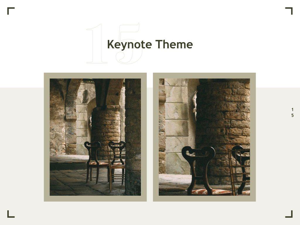 Exhibit Keynote Template, Slide 16, 04918, Presentation Templates — PoweredTemplate.com