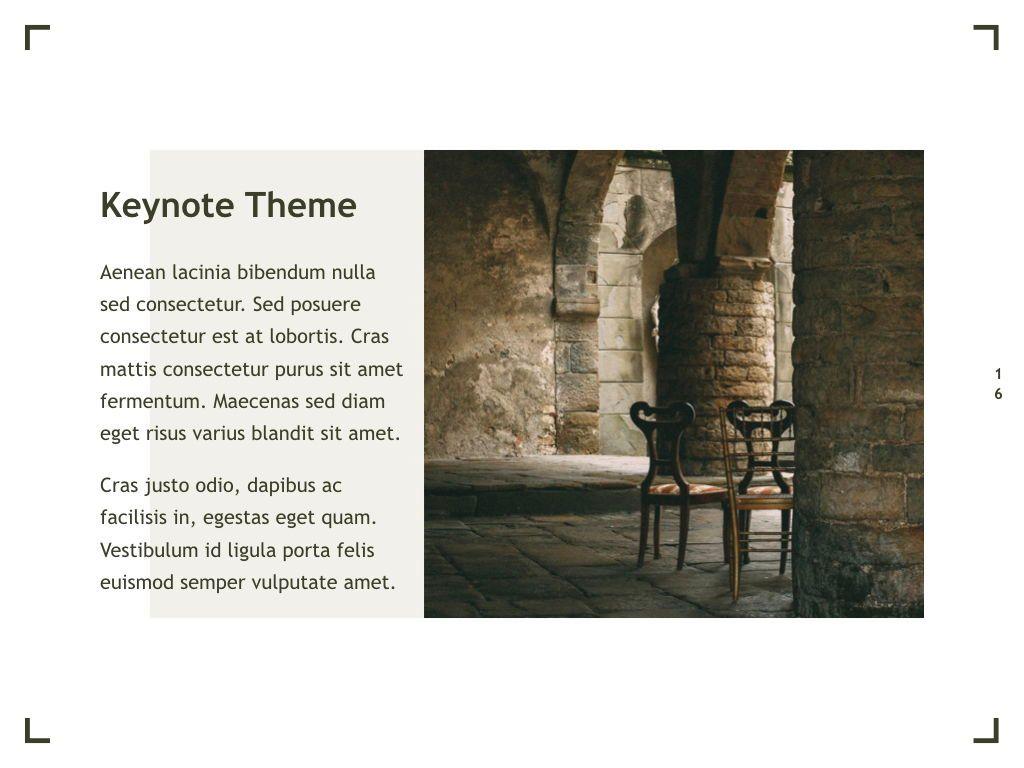 Exhibit Keynote Template, Slide 17, 04918, Presentation Templates — PoweredTemplate.com