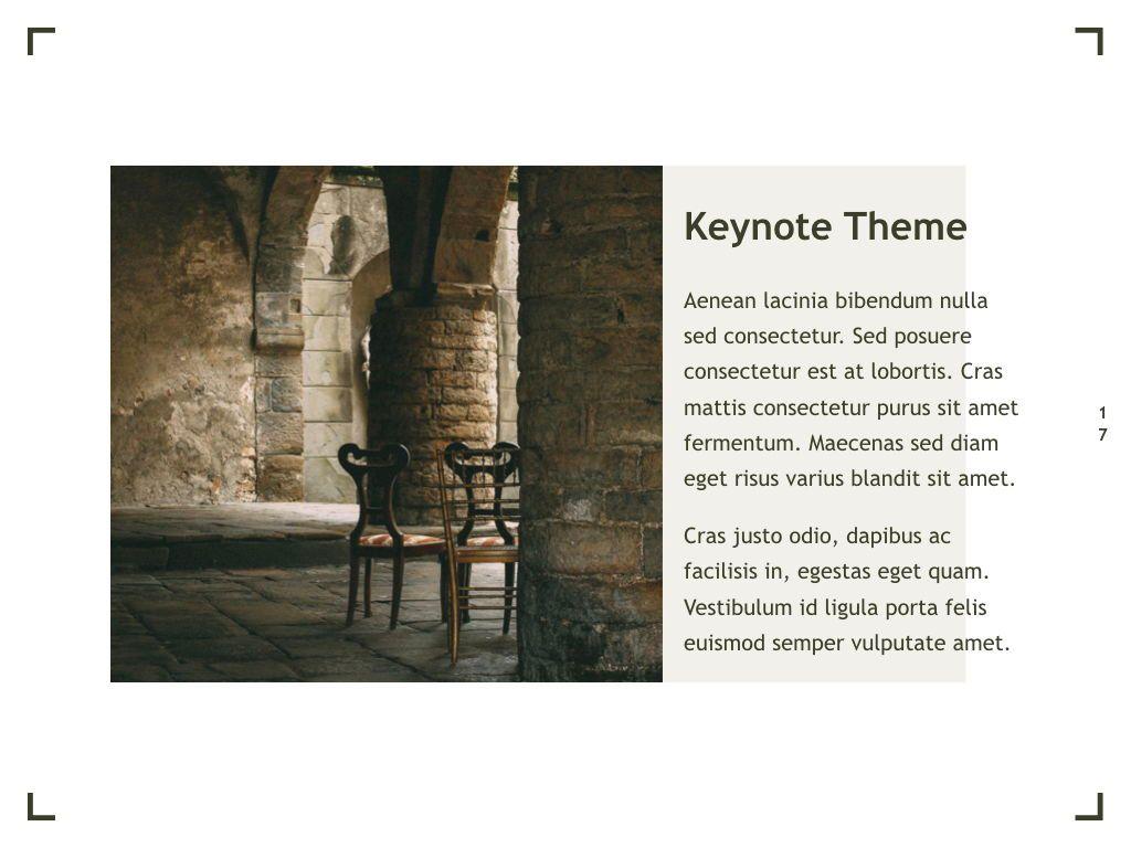 Exhibit Keynote Template, Slide 18, 04918, Presentation Templates — PoweredTemplate.com