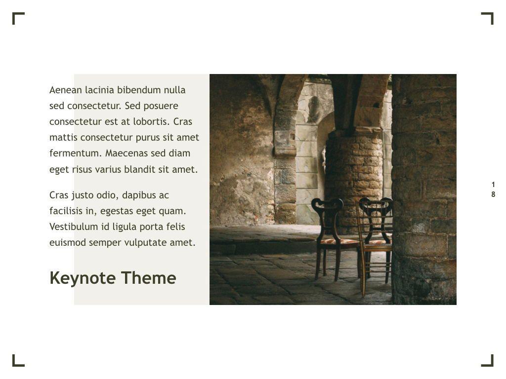 Exhibit Keynote Template, Slide 19, 04918, Presentation Templates — PoweredTemplate.com