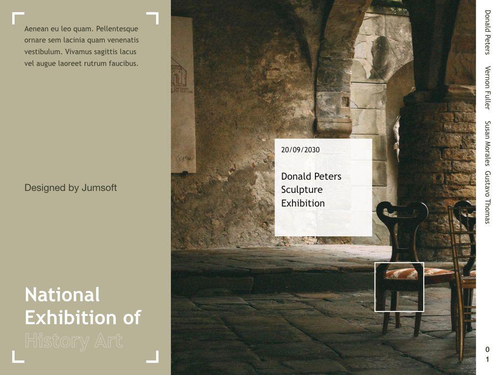 Exhibit Keynote Template, Slide 2, 04918, Presentation Templates — PoweredTemplate.com