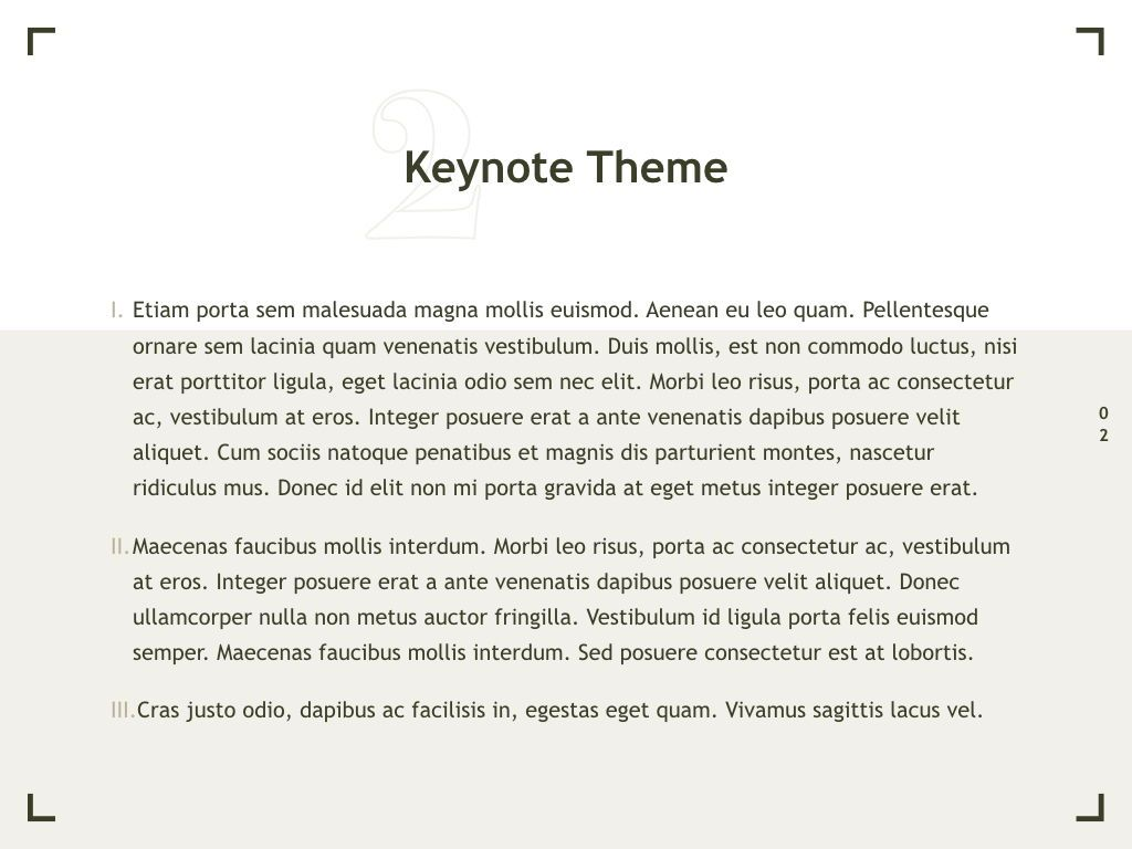 Exhibit Keynote Template, Slide 3, 04918, Presentation Templates — PoweredTemplate.com