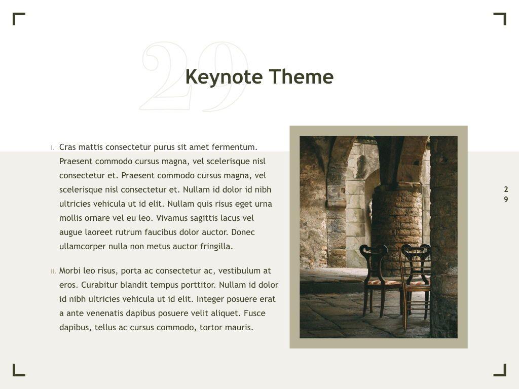 Exhibit Keynote Template, Slide 30, 04918, Presentation Templates — PoweredTemplate.com