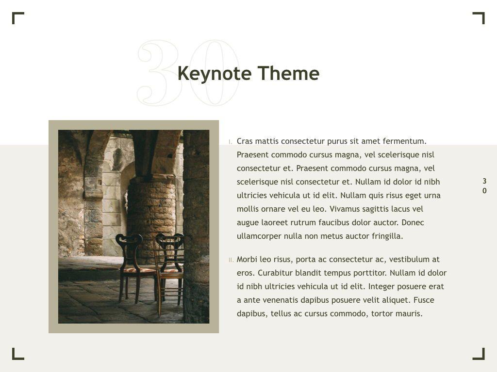 Exhibit Keynote Template, Slide 31, 04918, Presentation Templates — PoweredTemplate.com