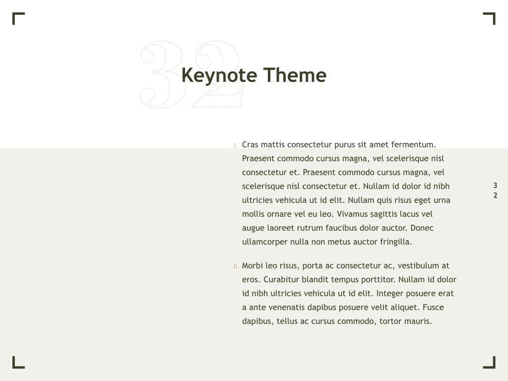 Exhibit Keynote Template, Slide 33, 04918, Presentation Templates — PoweredTemplate.com
