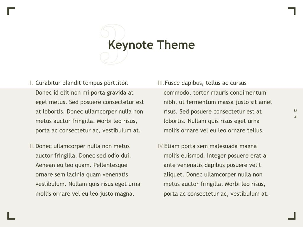 Exhibit Keynote Template, Slide 4, 04918, Presentation Templates — PoweredTemplate.com