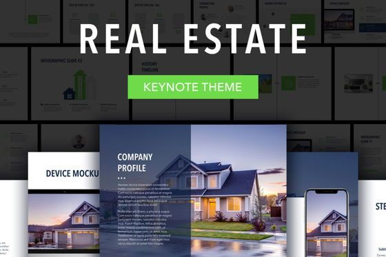 Presentation Templates: Real Estate Keynote Template #04919