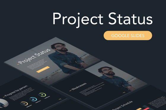 Presentation Templates: Project Status Google Slides Template #04920