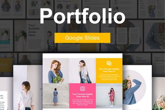 Presentation Templates: Portfolio Google Slides Template #04924