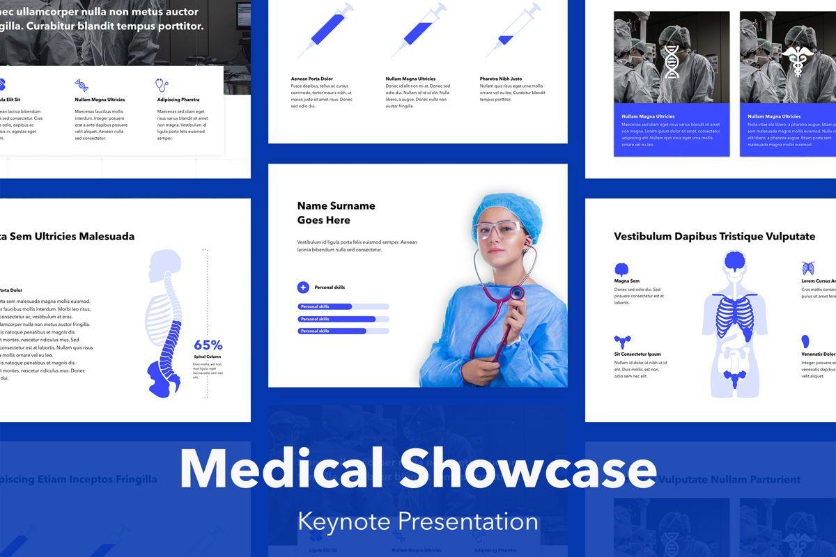 Medical Showcase Keynote Template, 04925, Medical Diagrams and Charts — PoweredTemplate.com