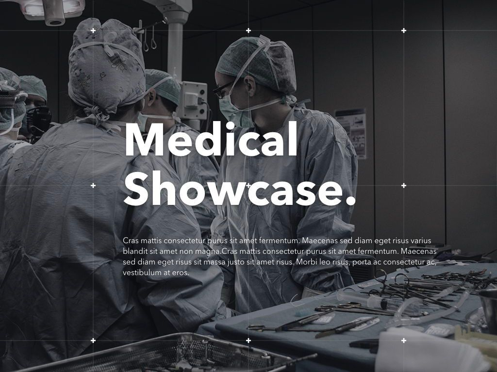 Medical Showcase Keynote Template, Slide 2, 04925, Medical Diagrams and Charts — PoweredTemplate.com