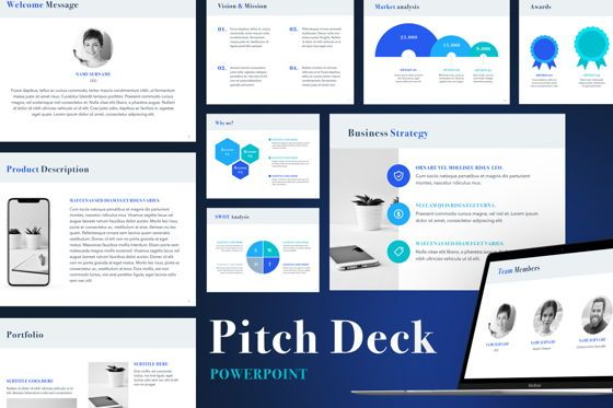 Presentation Templates: Bright Pitch Deck PowerPoint Template #04926