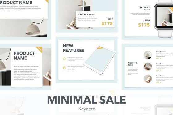 Presentation Templates: Minimal Sale Keynote Template #04927