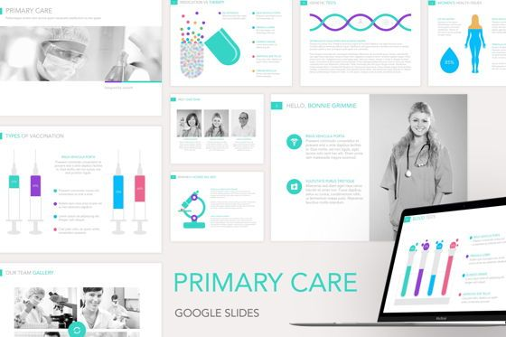 Medical Diagrams and Charts: Primary Care Google Slides Template #04929
