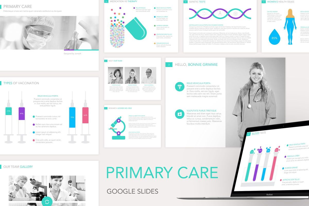 Primary Care Google Slides Template, 04929, Medical Diagrams and Charts — PoweredTemplate.com