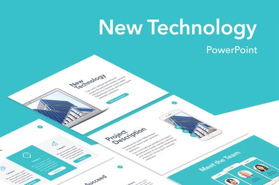 Presentation Templates: New Technology PowerPoint Template #04931
