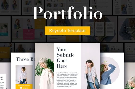 Presentation Templates: Portfolio Keynote Template #04935