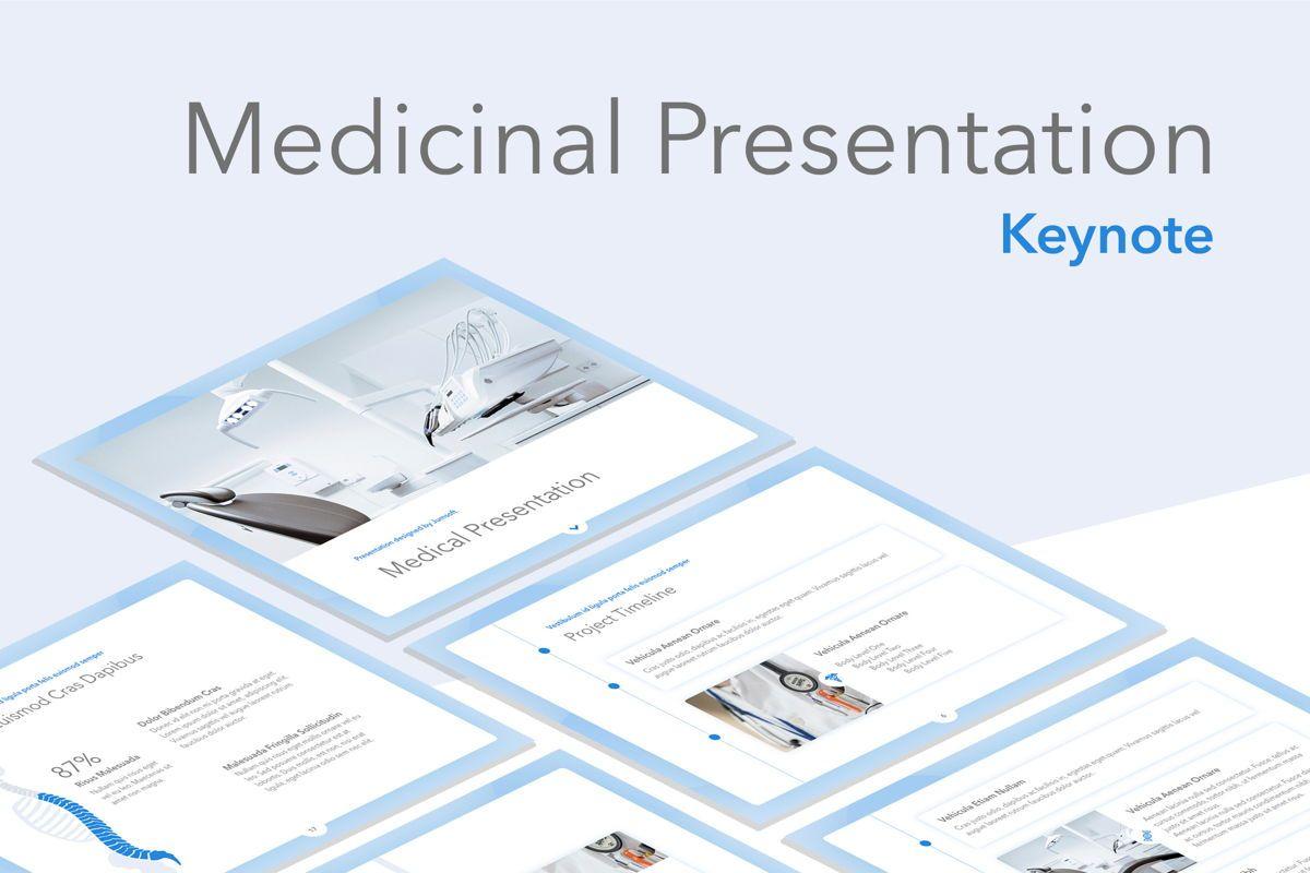 Medicinal Keynote Template, 04936, Medical Diagrams and Charts — PoweredTemplate.com
