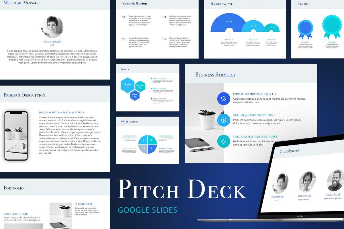 Pitch Deck Google Slides Template, 04937, Presentation Templates — PoweredTemplate.com