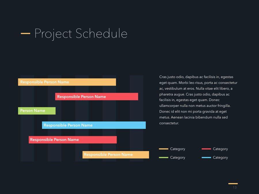 Project Status PowerPoint Template, Slide 14, 04938, Presentation Templates — PoweredTemplate.com