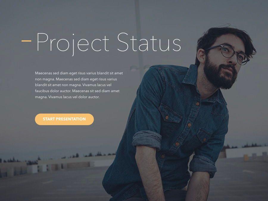 Project Status PowerPoint Template, Slide 2, 04938, Presentation Templates — PoweredTemplate.com