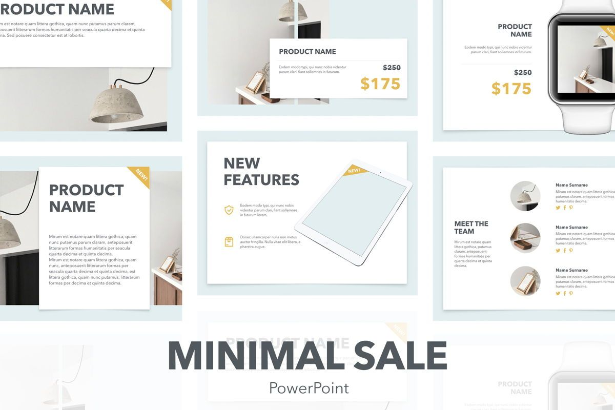 Minimal Sale PowerPoint Template, 04942, Presentation Templates — PoweredTemplate.com