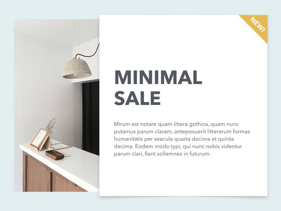 Minimal Sale PowerPoint Template, Slide 2, 04942, Presentation Templates — PoweredTemplate.com