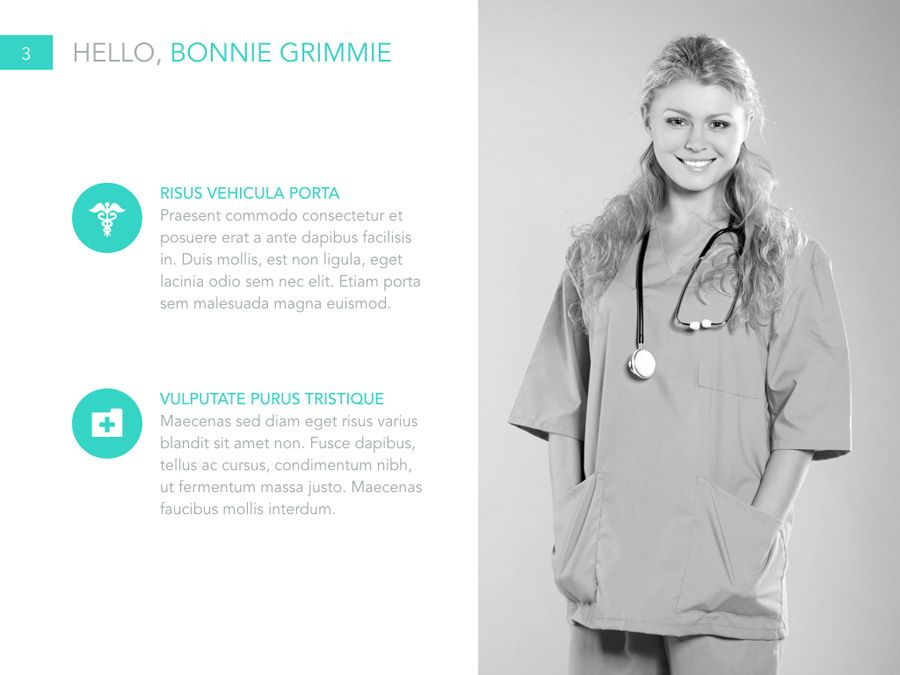 Primary Care PowerPoint Template, Slide 4, 04943, Medical Diagrams and Charts — PoweredTemplate.com
