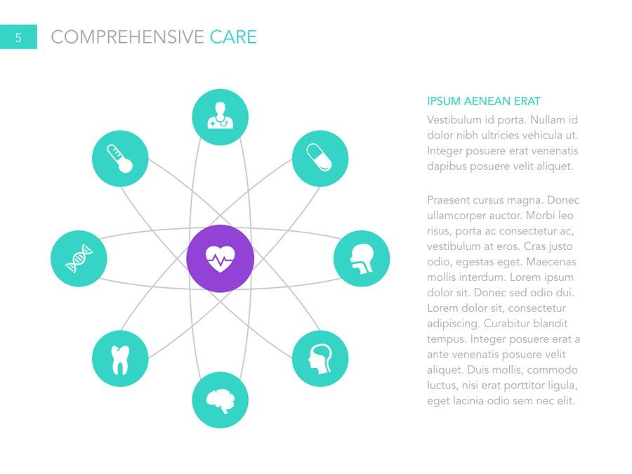 Primary Care PowerPoint Template, Slide 6, 04943, Medical Diagrams and Charts — PoweredTemplate.com