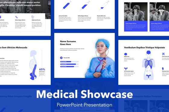 Medical Diagrams and Charts: Medical Showcase PowerPoint Template #04945