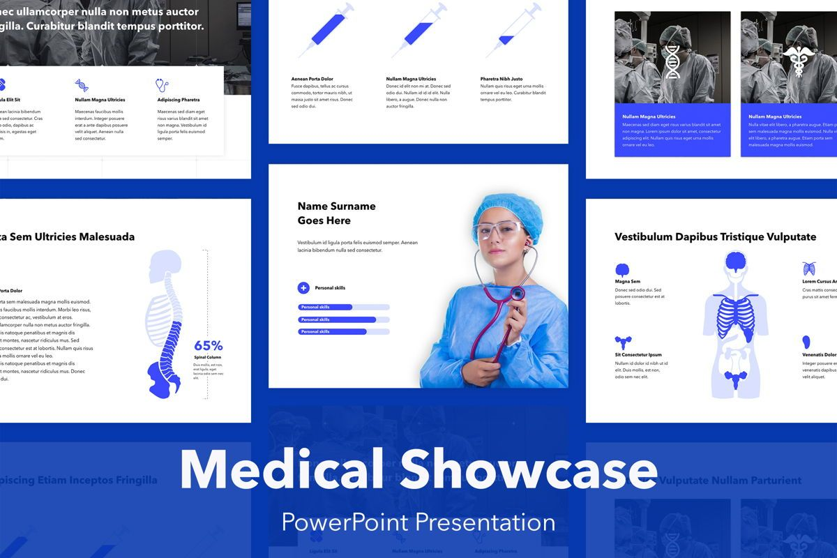 Medical Showcase PowerPoint Template, 04945, Medical Diagrams and Charts — PoweredTemplate.com