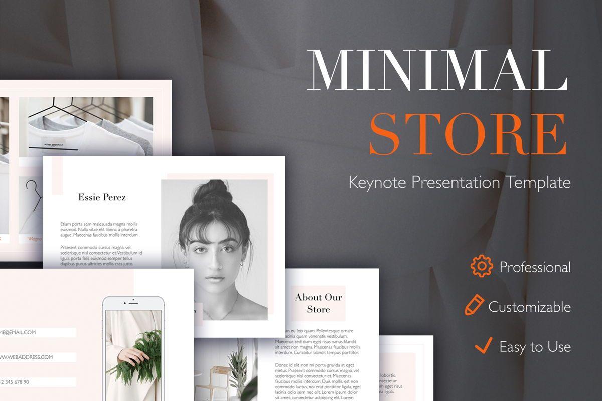 Minimal Store Keynote Template, 04947, Presentation Templates — PoweredTemplate.com