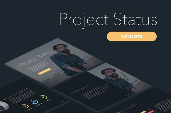 Presentation Templates: Project Status Keynote Template #04948