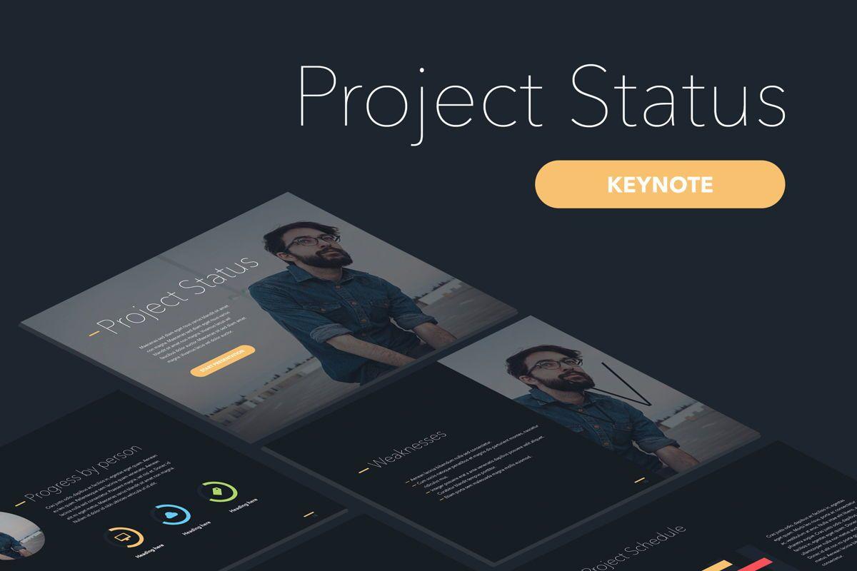 Project Status Keynote Template, 04948, Presentation Templates — PoweredTemplate.com