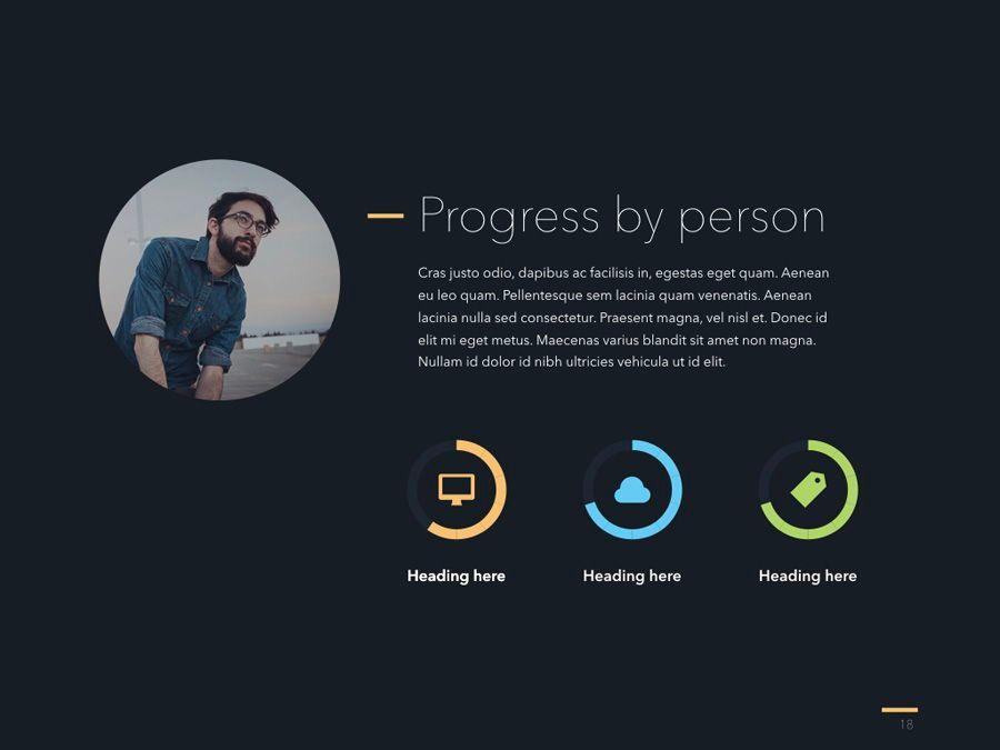 Project Status Keynote Template, Slide 19, 04948, Presentation Templates — PoweredTemplate.com