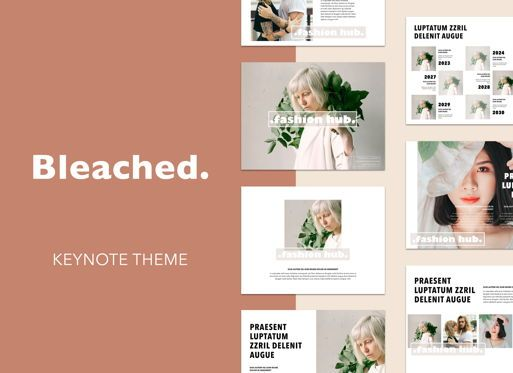 Business Models: Bleached Keynote Presentation Template #04949