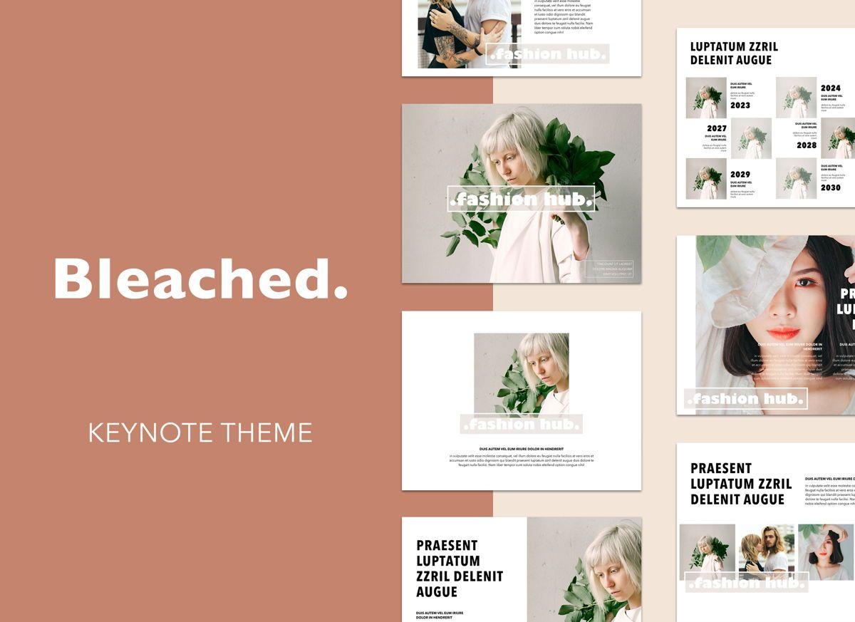 Bleached Keynote Presentation Template, 04949, Modelos de Negócio — PoweredTemplate.com