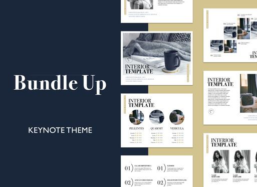 Business Models: Bundle Up Keynote Presentation Template #04950