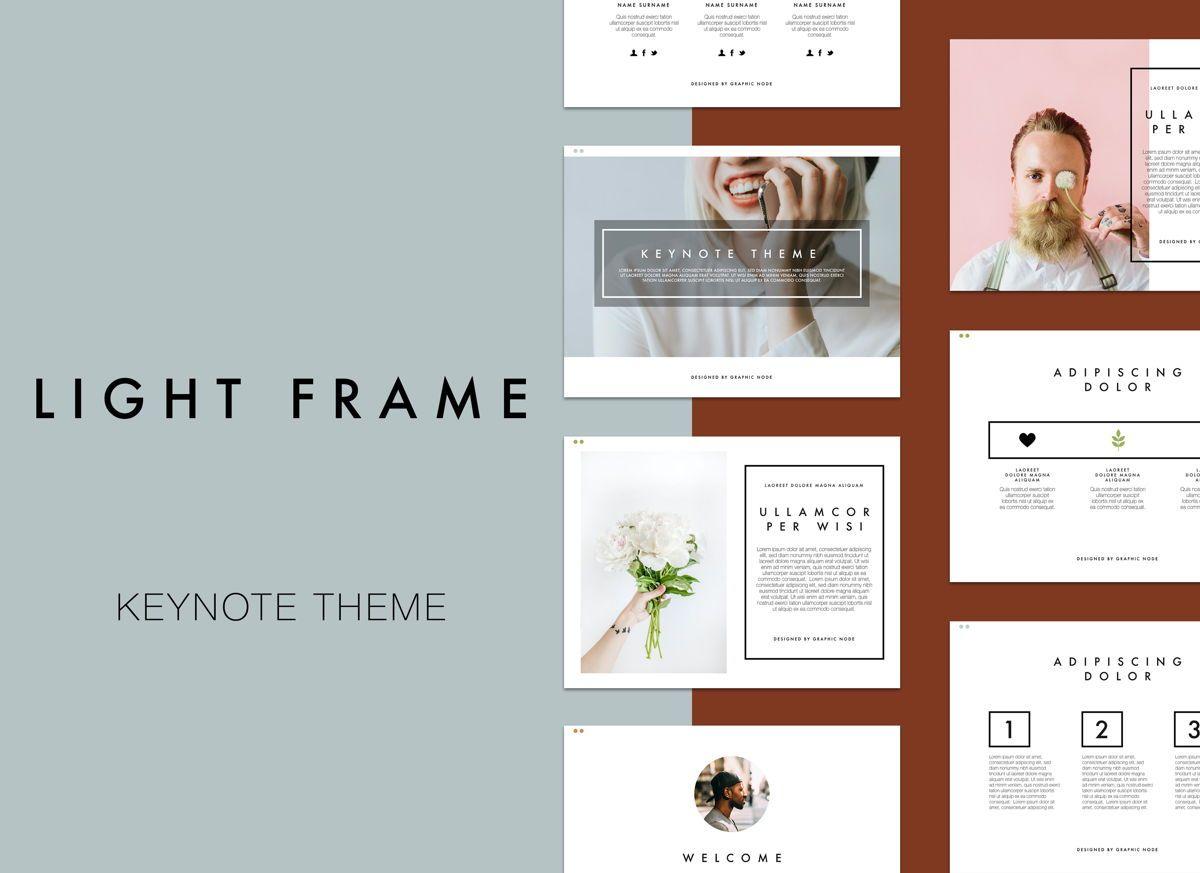 Light Frame Keynote Presentation Template, 04951, Modelos de Negócio — PoweredTemplate.com