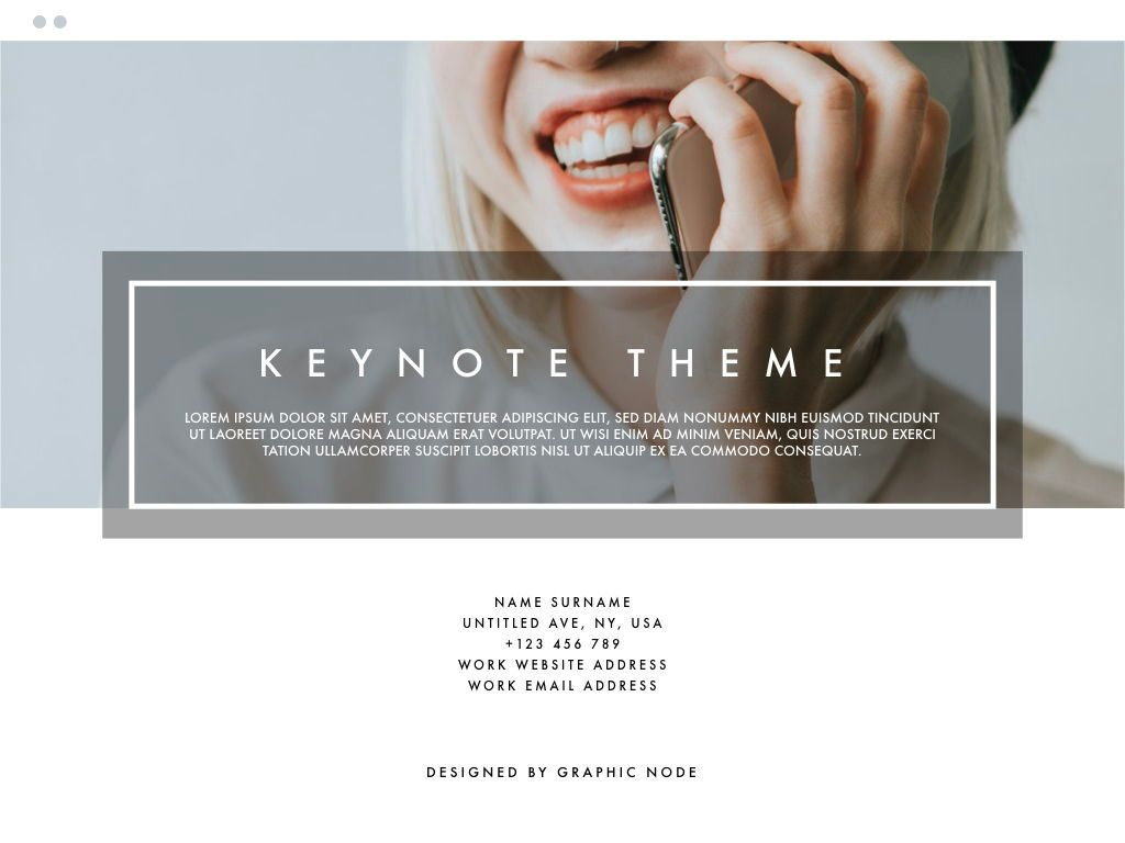 Light Frame Keynote Presentation Template, Folie 13, 04951, Business Modelle — PoweredTemplate.com