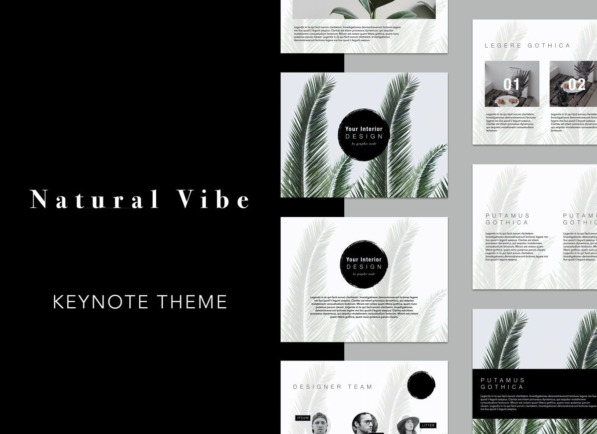 Natural Vibe Keynote Presentation Template, 04952, Business Models — PoweredTemplate.com