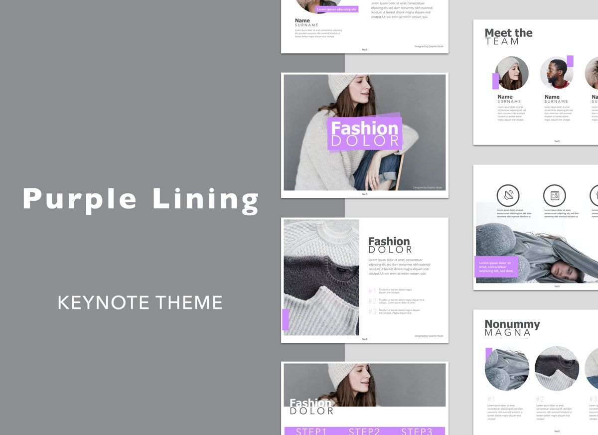 Purple Lining Keynote Presentation Template, 04953, Business Models — PoweredTemplate.com